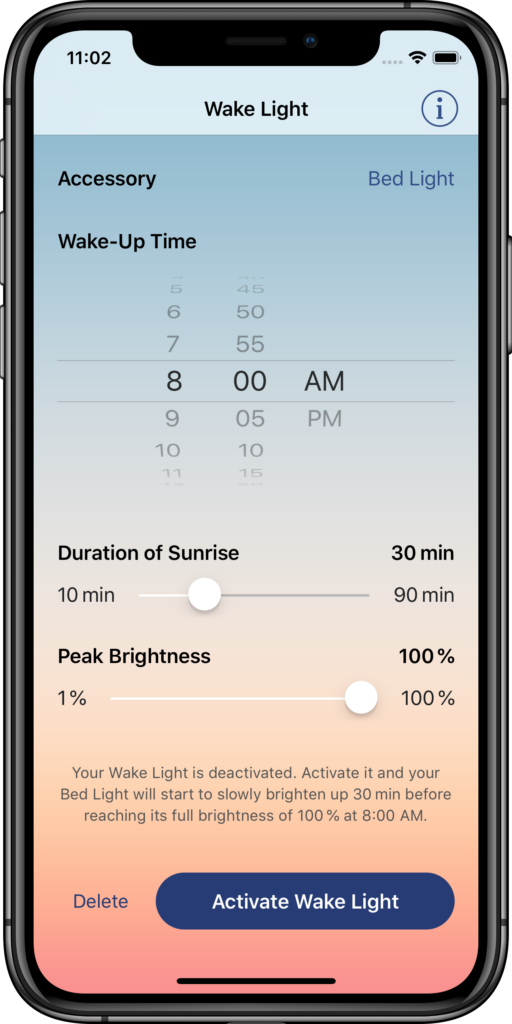 Screenshot of Wake Light